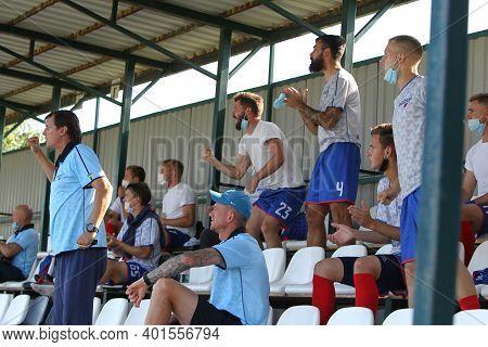 Odessa, Ukraine - July 24, 2020: Spectators At A Regional Football Match During The Quarantine Restr