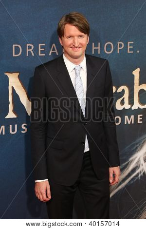 NEW YORK-DEC 10: Director Tom Hooper attends the premiere of