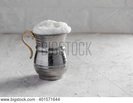 Ayran. Traditional Turkish Yoghurt Drink. Buttermilk.
