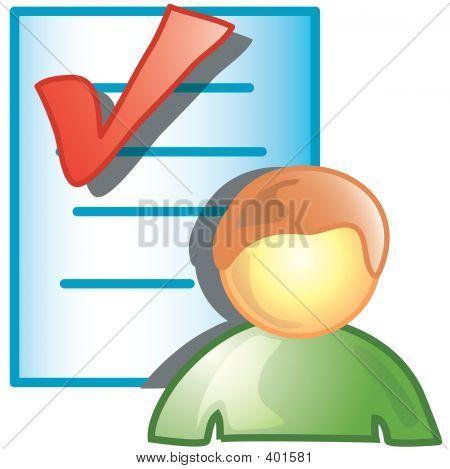 Person Checking Icon