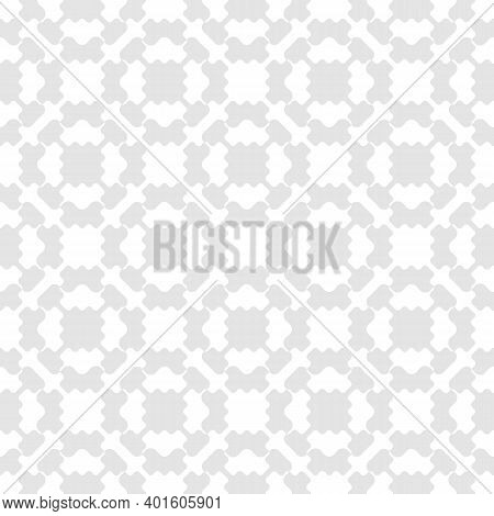 Vector Geometric Seamless Pattern. Simple Abstract Texture With Ornamental Grid, Mesh, Curved Lattic