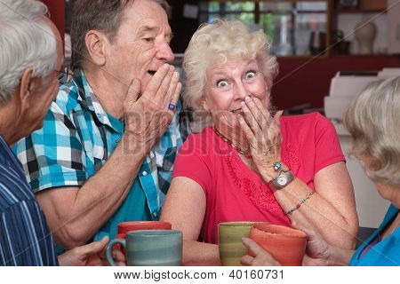 Man And Woman Whispering