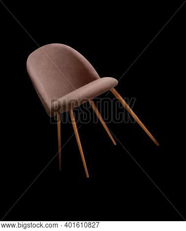 Chair Vector Comfortable Furniture Design In Furnished Apartment Interior Illustration On Black Back