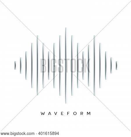 Waveform Background Design Vector For Banner And Website