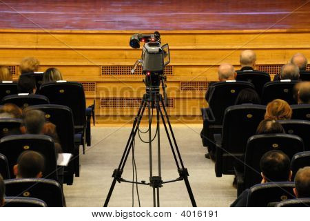 Video Camera At Conference Hall