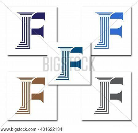 F Law Firm Logo Design Concept Company