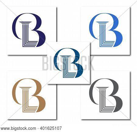 B Law Or Bl Law Firm Logo Design