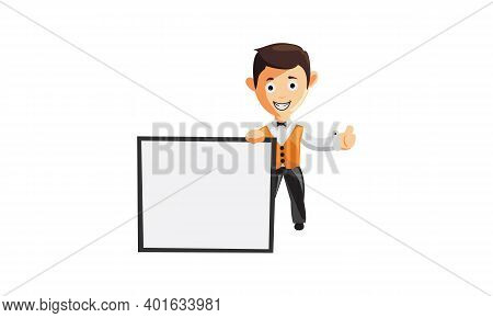 Character Job Cloth Chef Waiter Clothes Blank Whiteboard