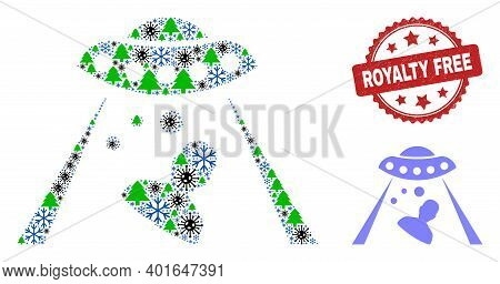 Winter Covid Composition Human Abduction, And Distress Royalty Free Red Rosette Watermark. Collage H