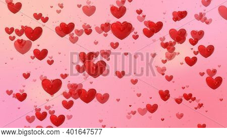 Heart And Love Background , Flying Hearts Concept, Sign And Symbol Of Love , Show Your Love For Vale