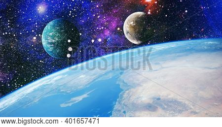 High Definition Star Field Background . Starry Outer Space Background Texture . Colorful Starry Nigh