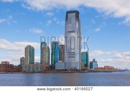 Skyline of  Jersey City In New Jersey.