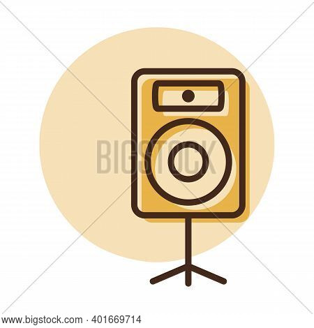 Acoustic Speaker Vector Icon. Music Column. Graph Symbol For Music And Sound Web Site And Apps Desig