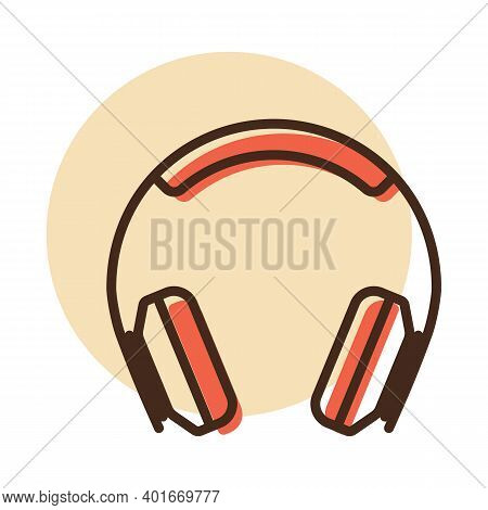 Over-ear Headphones Vector Icon. Graph Symbol For Music And Sound Web Site And Apps Design, Logo, Ap
