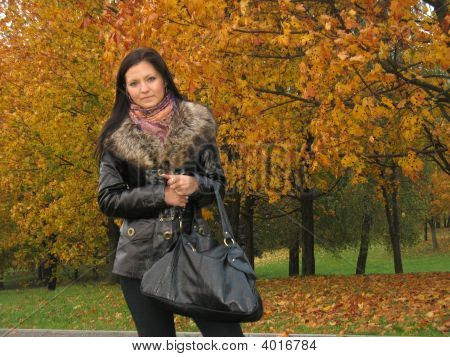 Young Woman In Late Autumn