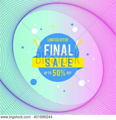 Final Sale Banner. Up To 50% Off Banner For Sale With Final Sale Sign.