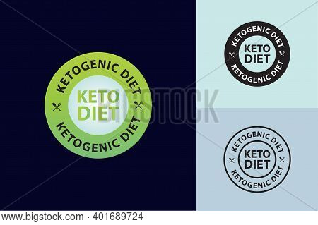 Ketogenic Diet Vector Illustration, Green Colored, Keto Diet