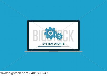 System Update, Software Update Icon, Symbol Vector Illustration