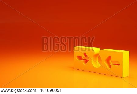 Yellow Acne Icon Isolated On Orange Background. Inflamed Pimple On The Skin. The Sebum In The Clogge