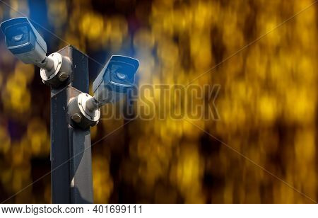 Multi-angle Cctv System Background Blast Clipping Path Separated From The Background Clipingpart