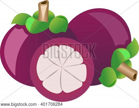 Passion Fruit Illustration Isolated On White Background.