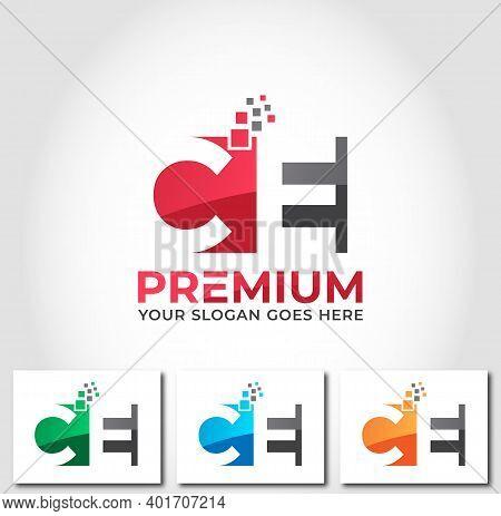Ce Alphabet Business Logo Design Company Concept