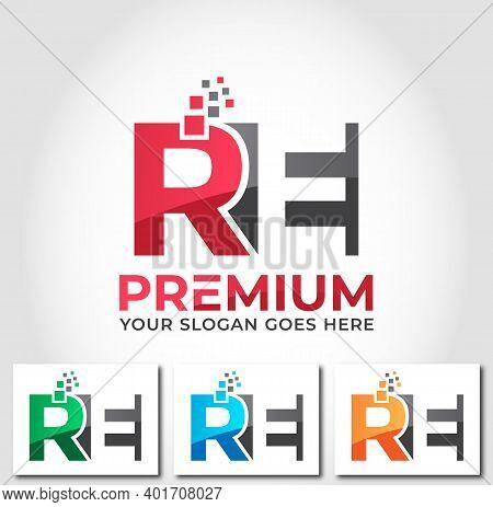 Re Alphabet Business Logo Design Company Concept