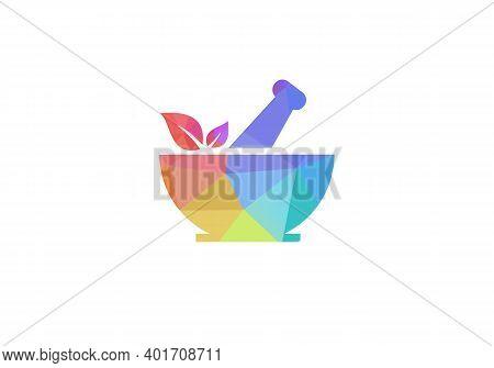 Pharmacy Concept Logo Design. Ayurveda Herbal Logo. Medical Pharmacy Logo Design
