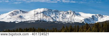 14,421 Feet Mount Massive Panorama, Is The Second Highest Mountain Peak In Colorado.