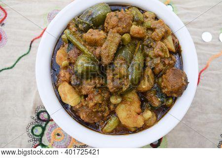 Surti Undhiyu Special Gujarati Dish Made During Sankrant Uttarayan Festival In January. Festive Indi