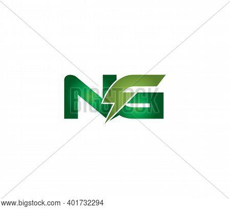 Ng Alphabet Electric Logo Design Company Concept