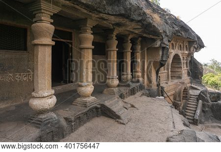 The Nasik Caves Or Pandavleni Caves Known As The Pandu Caves, Also Known As The Buddhist Trirashmi C