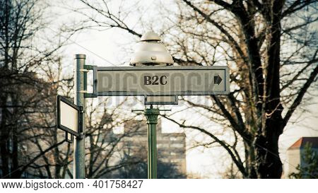 Street Sign The Direction Way To B2c