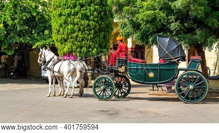 Jaipur, Rajasthan - 18 Oct, 2019 - The City Palace Jaipur Offers Chariot Ride