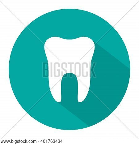 Icon Of Tooth. Dentist Symbol. Logo Of Teeth. Graphic Shape For Dental. Illustration For Healthy Smi