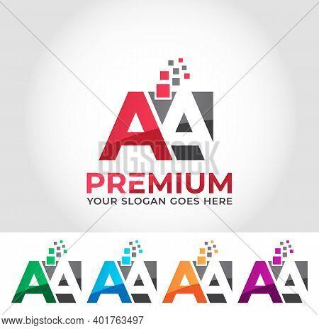 Aa Alphabet Business Logo Design Concept Company