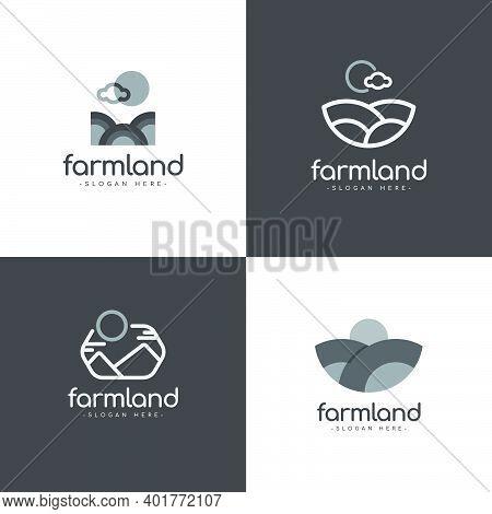 Farm Land Logo Vector Template Design Illustration