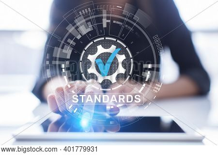 Standard. Quality Control. Iso Certification, Assurance And Guarantee. Internet Business Technology