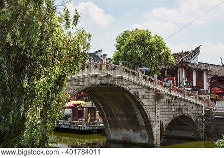 Fengjing, Shanghai, China - July 28, 2015: Fengjing Ancient Town, Old Town In Shanghai, China