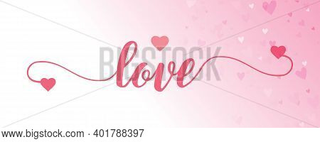Love You Retro Cartoon Banner With Lettering Doodle. Love Funny Poster. Flat Font Vector Graphic Des