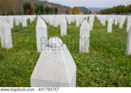 Srebrenica Memorial Center For War Crimes Victims Commited In Bosnian War