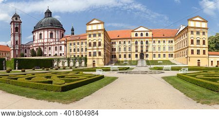 Jaromerice Nad Rokytnou Baroque And Renaissance Castle From 18th Century, South Moravia, Czech Repub