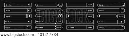 Big Set Loading Icons. Loading. Load. Progress Bar For Upload Download Round Process. Website Loadin