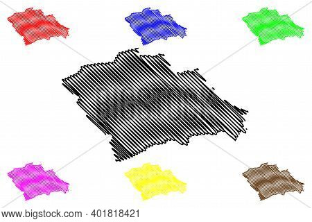 Trans-nzoia County (republic Of Kenya, Rift Valley Province) Map Vector Illustration, Scribble Sketc