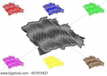 Trans-nzoia County (republic Of Kenya, Rift Valley Province) Map Vector Illustration, Scribble Sketc