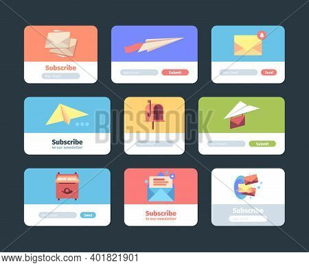 Email Subscription Forms. Web Ui Templates For Newsletter Sign Form Layout Design For Subscribers Ma