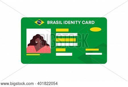 Brasil Id Card Template. South American Identification