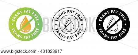 Trans Fat Free Vector Symbol With Drop