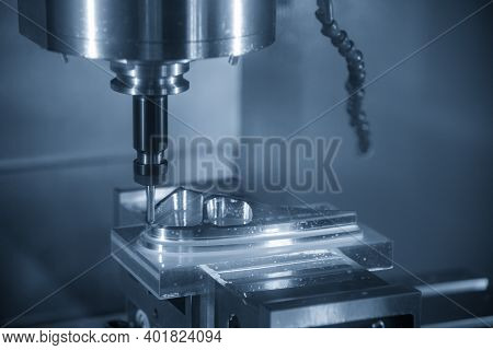 The  Cnc  Milling Machine Cutting  The Mold Parts By Solid Ball  End-mill Tool. The Hi-precision Mol