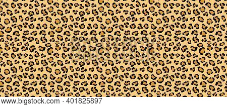 Leopard Tracery Skin With Yellow Background. African